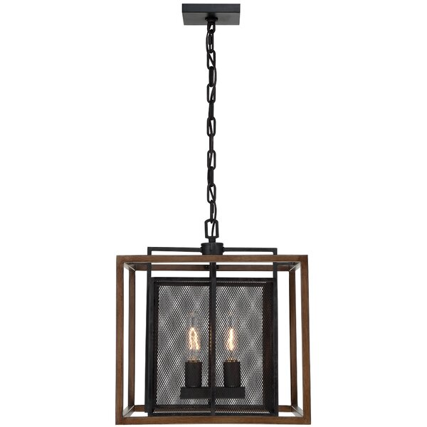 Minor 2 - Light Lantern Rectangle Chandelier By Union Rustic