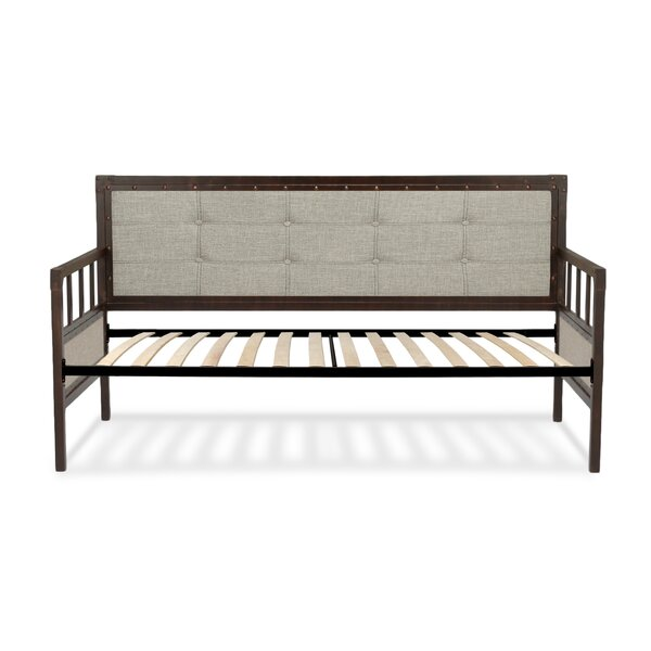 Danvers Twin Metal Daybed with Button-Tufted Upholstery by Trent Austin Design
