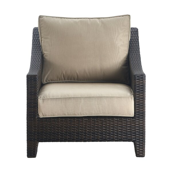 Tahoe Outdoor Wicker Patio Chair with Cushions by Serta at Home