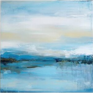 'Dreaming Blue I' Painting Print on Canvas by East Urban Home
