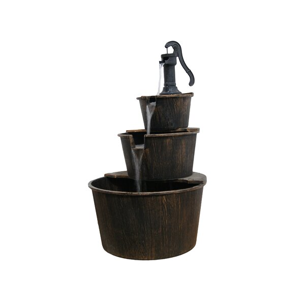 Acrylic 3 Tier Pump and Barrels Fountain by Alpine