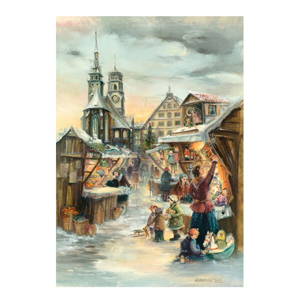 Bruck and Sohn Scene from City of Stuttgart Advent Calendar by Alexander Taron