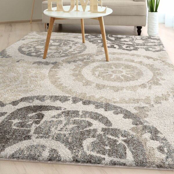 Hubbs Distressed Plush Ivory Area Rug by Alcott Hill
