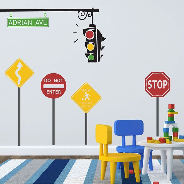 Traffic Set Wall Decal by Sissy Little