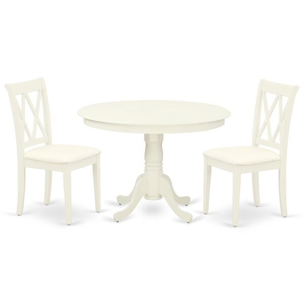 Nerine 3 Piece Solid Wood Dining Set By Winston Porter