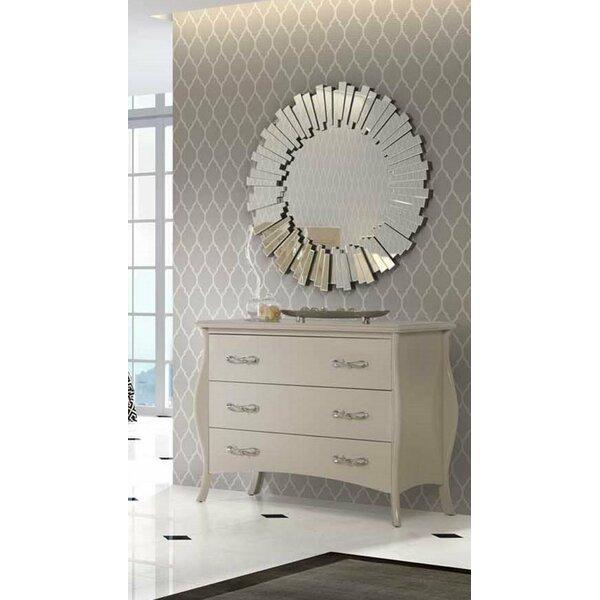 Weldon 3 Drawer Dresser with Mirror by Rosdorf Park