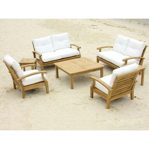 Cayman 7 Piece Teak Sofa Seating Group with Sunbrella Cushions by Douglas Nance