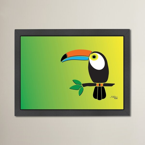 Alberta Toucan Print Framed Graphic Art by Bay Isle Home