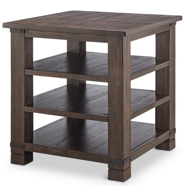 Kellyville Wood End Table by Gracie Oaks