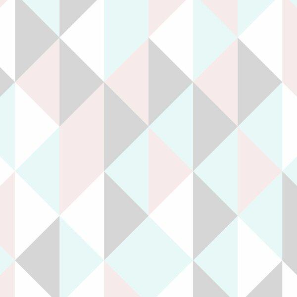 Kaleidoscope Triangles Wallpaper Tile by Wallums Wall Decor