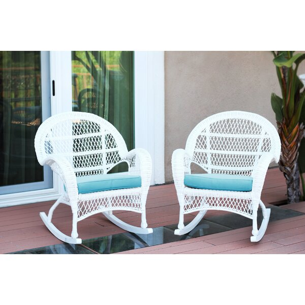 Berchmans Wicker Rocker Chair With Cushions (Set Of 2) By Darby Home Co by Darby Home Co Bargain