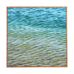 Ombre Sea by Shannon Clark Framed Photographic Print by Deny Designs