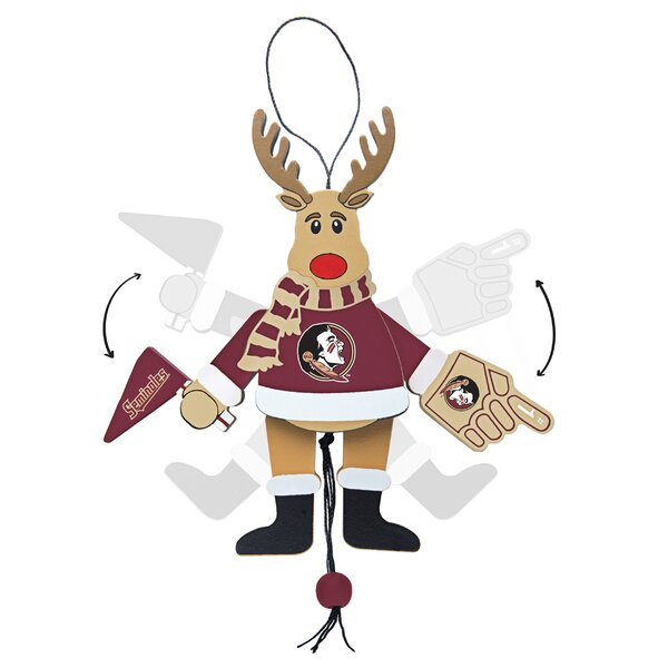 NCAA Wooden Cheering Reindeer Ornament by Topperscot