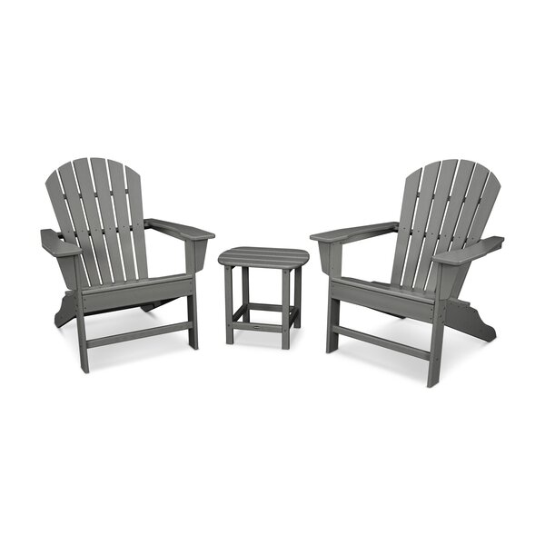 South Beach Adirondack 3-Piece Seating Group by POLYWOOD®
