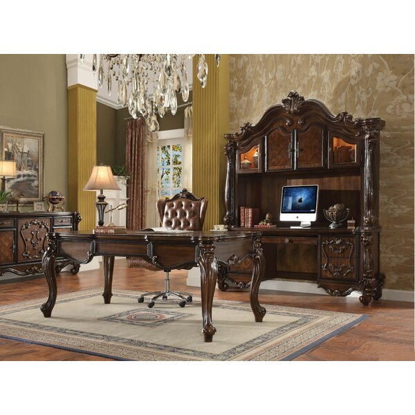 Mallon Solid Wood Executive Desk and Chair Set