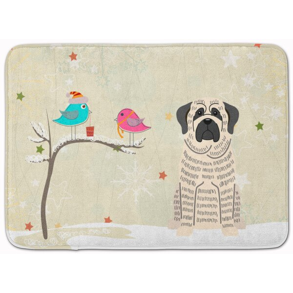 Christmas Mastiff Memory Foam Bath Rug by The Holiday Aisle