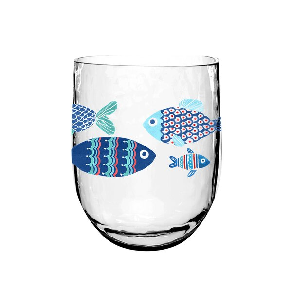 Emilio Nautical Dof 14.6 oz. Acrylic Cocktail Glass (Set of 6) by Breakwater Bay