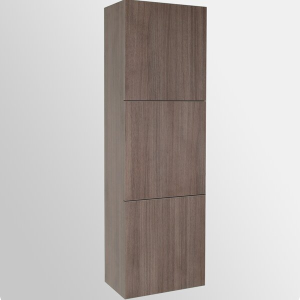 Senza 17.75 W x 59 H Wall Mounted Cabinet by Fresca