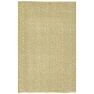 Buell Hand Woven Gold Indoor/Outdoor Area Rug By Ivy Bronx