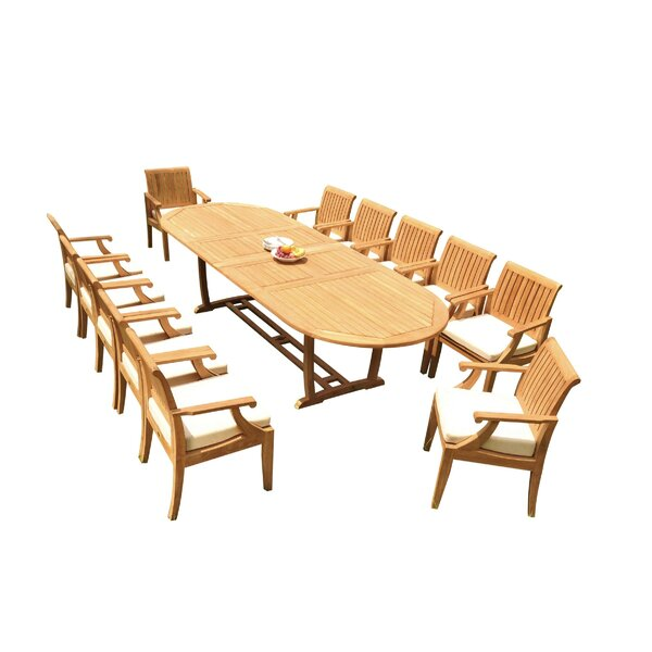 Fratessa 13 Piece Teak Dining Set by Rosecliff Heights