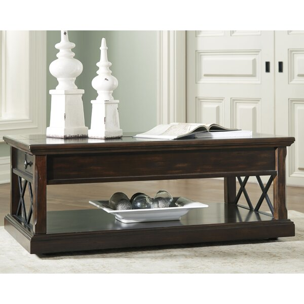 Redbud Coffee Table With Storage By Charlton Home