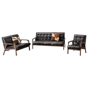 3 Pieces Living Room Set - White by George Oliver