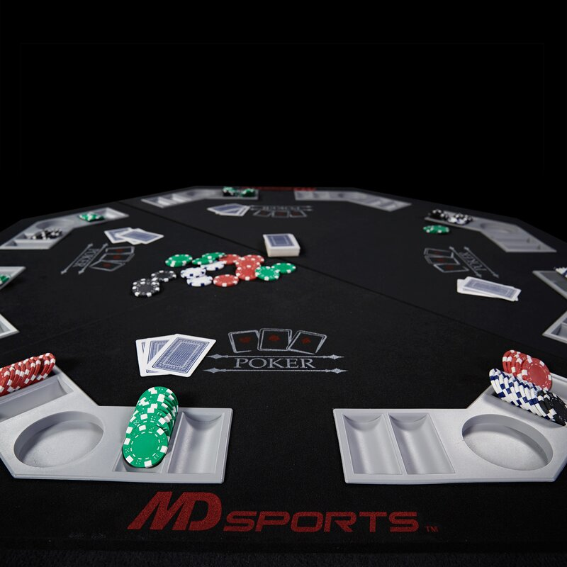 46.7\  Player Conversion Poker Table Top & MD Sports 46.7\