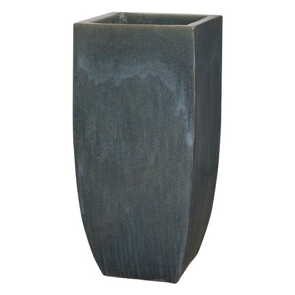 Reaney Square Tall Ceramic Pot Planter by Orren Ellis