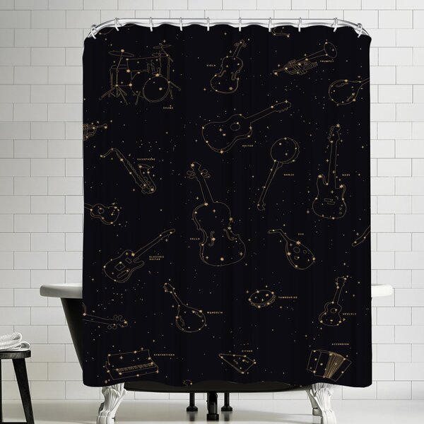 Florent Bodart Heavens Music Shower Curtain by East Urban Home