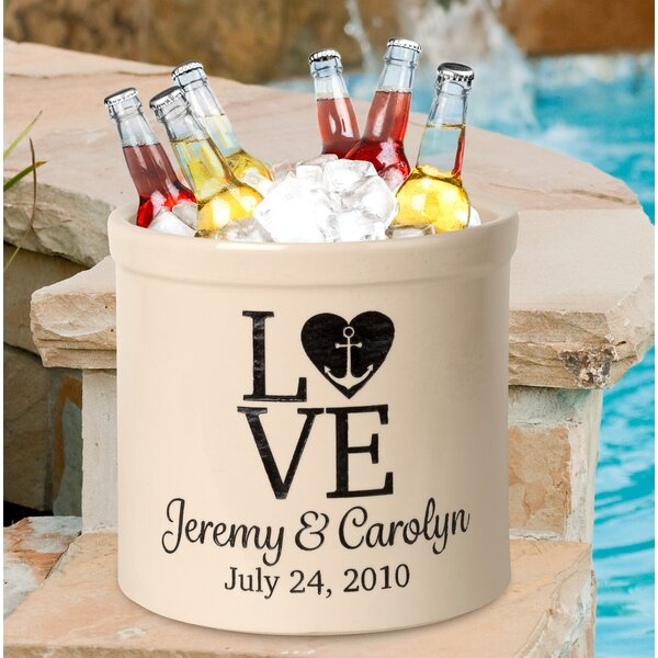 Woodburn Personalized Love Anchor 2 Gallon Ceramic Pot Planter by August Grove