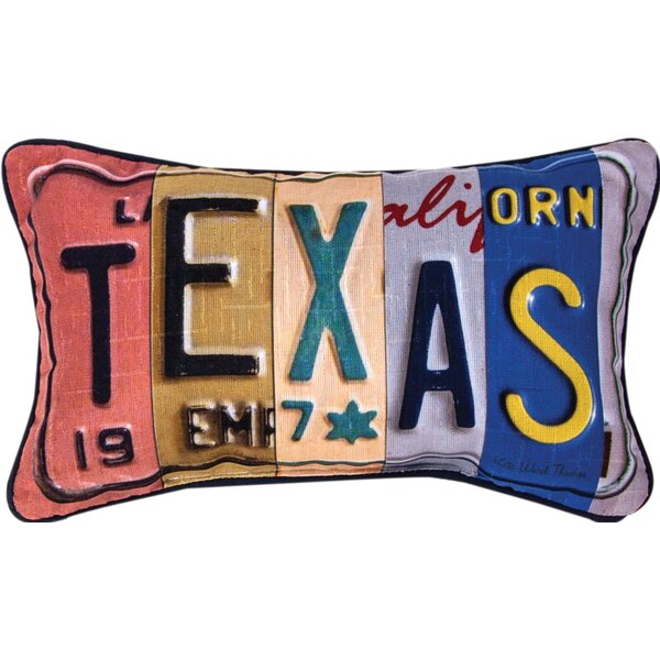 Texas - Word Dye Lumbar Pillow by Manual Woodworkers & Weavers