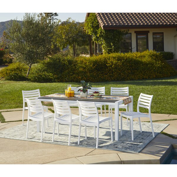 Benninger 9 Piece Indoor/Outdoor Dining Set by Ivy Bronx