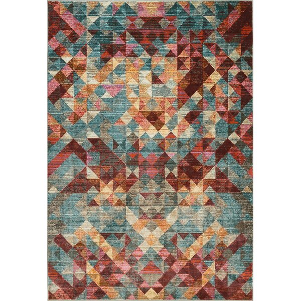 Ramer Geometric Soft Red Area Rug by Bungalow Rose