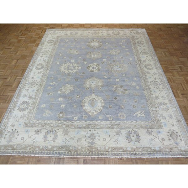 One-of-a-Kind Josephson Oushak Hand-Knotted Wool Sky Blue Area Rug by Canora Grey