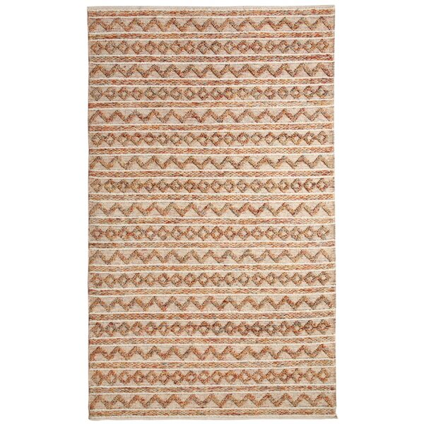 Edwa Hand-Woven Ivory Area Rug by World Menagerie
