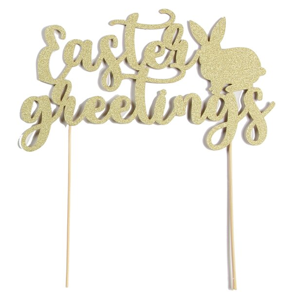 Bunny Hop Cake Topper by Paper Jazz