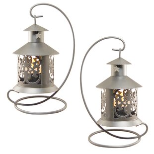 Compare Metal Tealight Lantern (Set of 2) By LumaBase