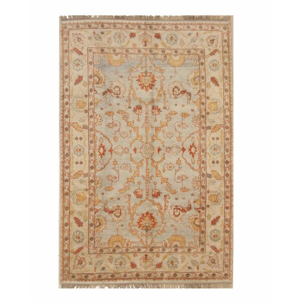 One-of-a-Kind Careen Hand-Knotted Wool Ivory Area Rug by Bloomsbury Market