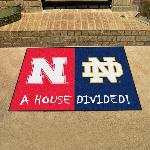 House Divided - Nebraska / Notre Dame Doormat by FANMATS