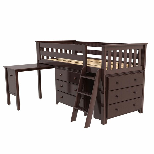 Rolph Twin Low Loft Bed with 2 Dressers and Pull Out Desk by Harriet Bee