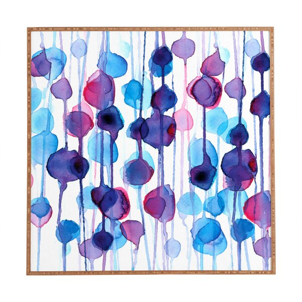 Abstract Watercolor Framed Painting Print by Latitude Run