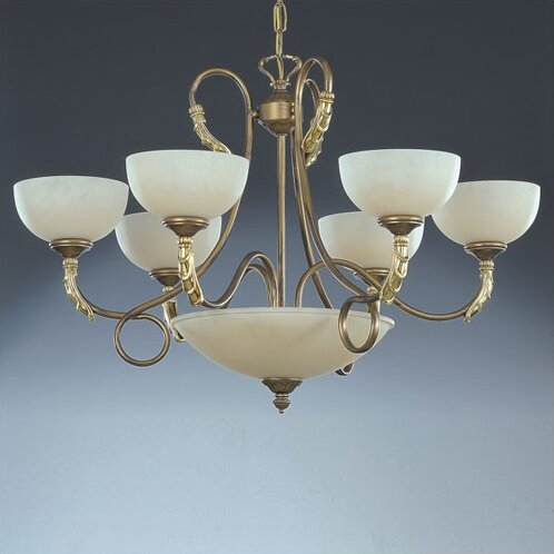 9 - Light Shaded Empire Chandelier With Crystal Accents By Zanin Lighting Inc.