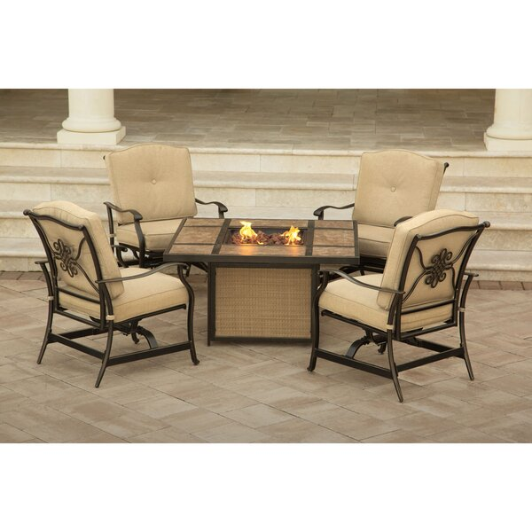 Carleton 5 Piece Multiple Chair Seating Group with Cushions by Fleur De Lis Living
