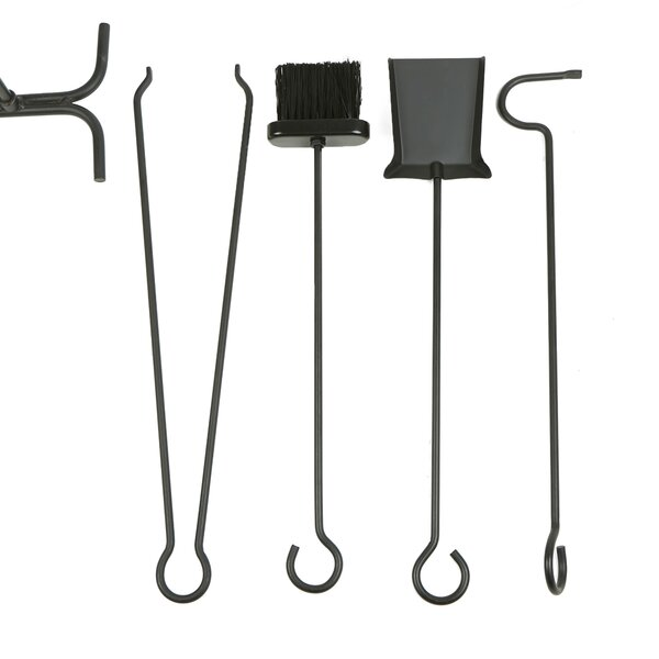 Cagle Stand Alone 5 Piece Steel Fireplace Tool Set By Symple Stuff