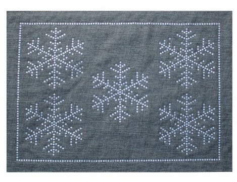 Rhinestone Winter Snowflake Placemat by Sparkles Home