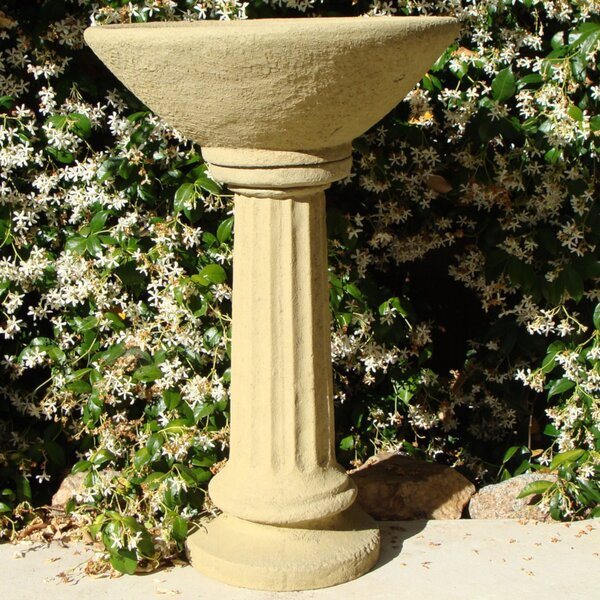 Old World Basin Birdbath by Designer Stone, Inc