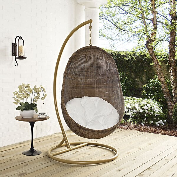 Bean Swing Chair with Stand by Modway