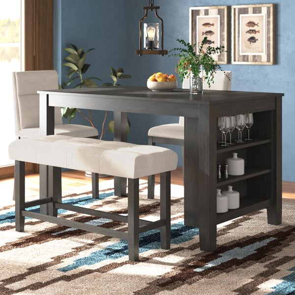 Derrick 4 Piece Counter Height Dining Set by Foundry Select Foundry Select