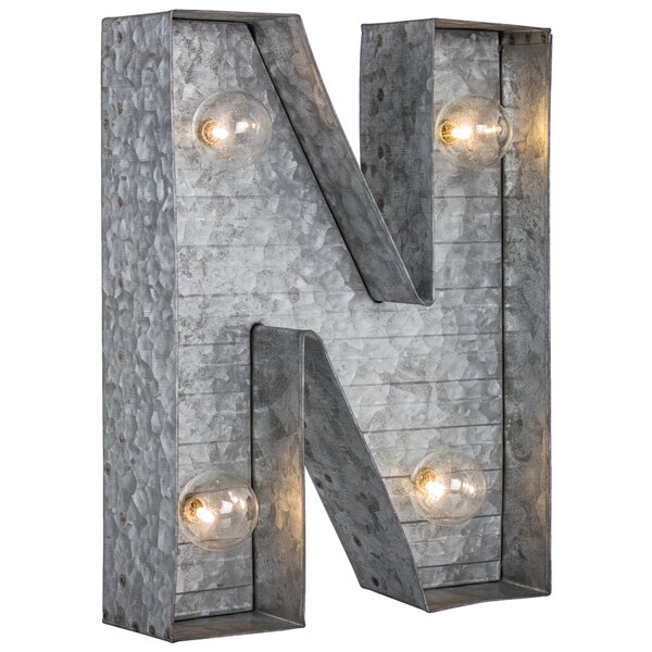 Letter N Metal LED Marquee Sign by Williston Forge