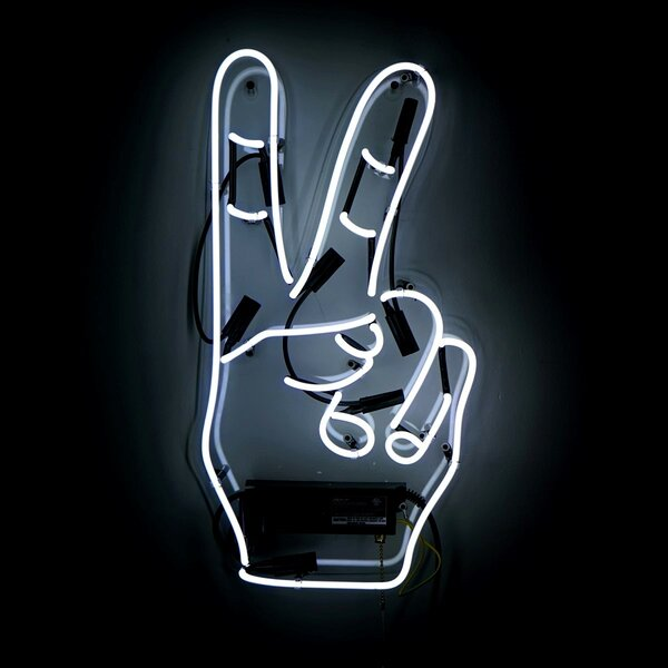 Peace Neon Sign by Oliver Gal
